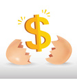 Dollar Egg vector image