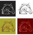 horses head vector image