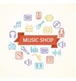 Music Shop Concept vector image