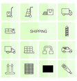 14 shipping icons vector image vector image