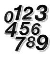 3-d block numbers vector image vector image