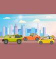 automobiles on background background of vector image vector image