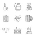 autorepair shop icons set outline style vector image vector image