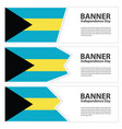 bahamas flag banners collection independence day vector image