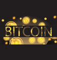 bitcoin background cryptocurrency coins vector image vector image