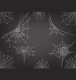 black spiders and different web clipart vector image vector image