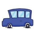 Blue car collection T-Shirt design vector image