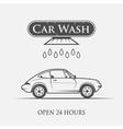 car wash vintage style vector image vector image