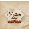 Card with mustache for Father s Day EPS 10 vector image