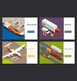 cargo transportation isometric concept vector image