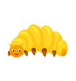cartoon beetle larva isolated on white background vector image