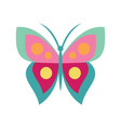 cartoon butterfly icon in flat style vector image vector image
