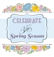 Celebrate the spring season background floral