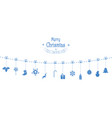 christmas composition garland holiday vector image vector image