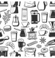 coffee cups bakery and seasoning seamless pattern vector image vector image