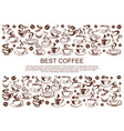 coffeehouse cafe poster of coffee cups vector image vector image