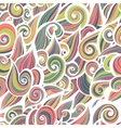 Curl abstract pattern with multicolored waves vector image vector image
