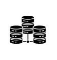 data center black icon sign on isolated vector image vector image