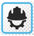 Development Helmet Icon In a Frame vector image vector image