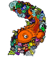 Doodle fishHand drawn vector image