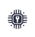 encryption cryptography data protection icon vector image vector image