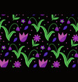 flowers seamless pattern floral plant patterns vector image