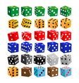 gaming dice of different colors vector image vector image