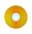 Gold Compact Disc vector image vector image
