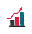growth chart arrow economy money business finance vector image