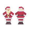 happy santa claus standing hands on waist vector image vector image