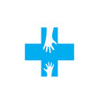 help medical logo icon design vector image
