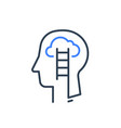 human head profile and ladder psychology vector image