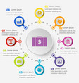 infographic template with economy icons vector image vector image