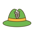 Irish hat isolated icon vector image vector image