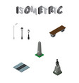 isometric architecture set of city lights seat vector image vector image