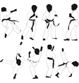 Kids karate vector image