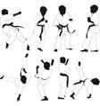 Kids karate vector image vector image