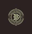 logo beer pub b and p emblem vector image vector image