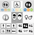 male and female restroom symbol icons vector image