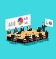 meeting room scene vector image vector image