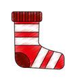 merry christmas sock icon vector image