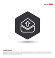 message icon hexa white background icon template vector image vector image