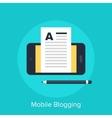 Mobile Blogging vector image