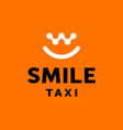 modern professional logo smile taxi in black and vector image vector image