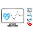 network cardio monitoring mesh vector image vector image