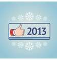 New year greeting card with like sign vector image
