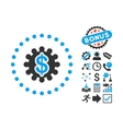 Payment Options Flat Icon with Bonus vector image vector image