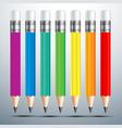 Pencil set 2 vector image vector image