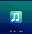people music icon application template vector image vector image