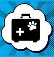 pet shop sign black icon in vector image